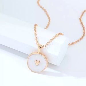 New Cute Round Heart Pendant Necklace